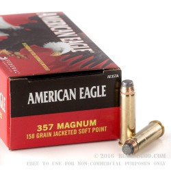 50 Rounds of .357 Mag Ammo by Federal - 158gr JSP