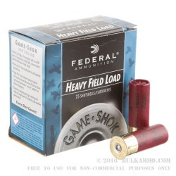 25 Rounds of 12ga Ammo by Federal -  #4 shot