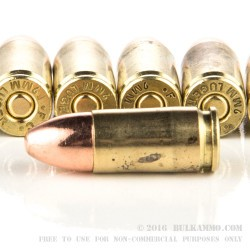 50 Rounds of Remanufactured 9mm Ammo by BVAC - 124gr CPRN