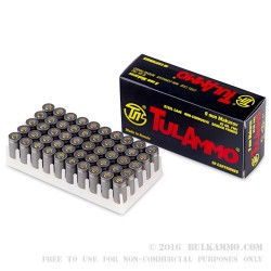 50 Rounds of 9x18mm Makarov Ammo by Tula - 92gr FMJ