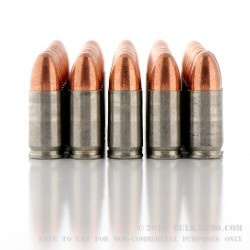 500  Rounds of 9mm Ammo by MFS - 115gr FMJ