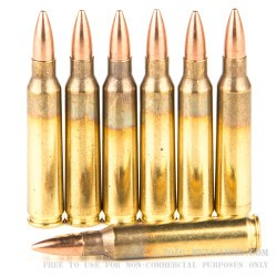 20 Rounds of 5.56x45 Ammo by Bosnian Surplus - 55gr FMJ