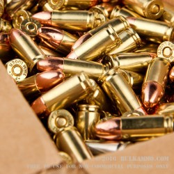 500  Rounds of 9mm Ammo by BVAC - 124gr CPRN - Reman