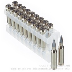20 Rounds of .243 Win Ammo by Federal Vital-Shok - 100gr Nosler Partition SP