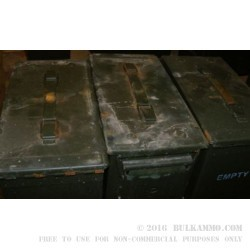 1 Surplus 50 Cal Ammo Can - Green - Rusty Exterior
