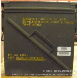 1 Surplus 25mm Ammo Can - Green