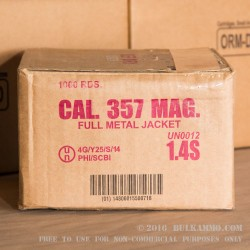 50 Rounds of .357 Mag Ammo by Armscor - 158gr FMJ