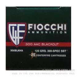 500 Rounds of .300 AAC Blackout Ammo by Fiocchi Extrema - 125gr SST