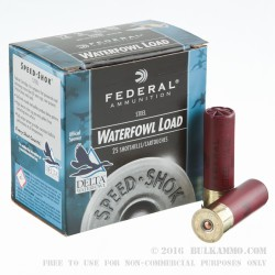 "25 Rounds of 12ga Ammo by Federal Speed-Shok - 3"" 1 1/8 ounce BB"