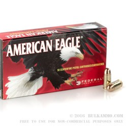 50 Rounds of .380 ACP Ammo by Federal - 95gr FMJ