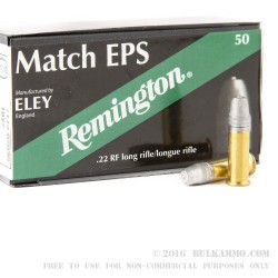 50 Rounds of .22 LR Match Ammo by Remington Eley - 40gr LFN