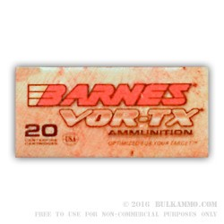 20 Rounds of .22-250 Rem Ammo by Barnes Vor-Tex - 50gr TSX FB