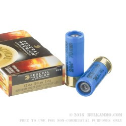 5 Rounds of 12ga Ammo by Federal LE Tactical - 1 ounce Low Recoil HP Rifled Slug