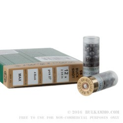 250 Rounds of 12ga Ammo by Sellier & Bellot - 1 1/4 ounce #4 Buck