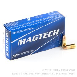 50 Rounds of 9mm Ammo by Magtech - 115gr FMC