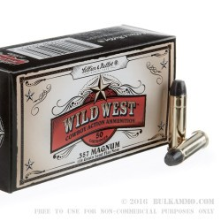 1000 Rounds of .357 Mag Ammo by Sellier & Bellot - 158gr LFN