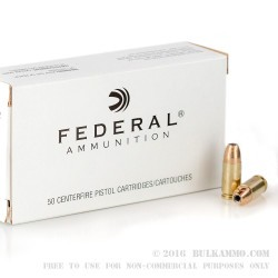 1000 Rounds of 9mm Ammo by Federal - 115gr JHP