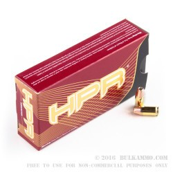 1000 Rounds of .380 ACP Ammo by HPR - 90gr JHP