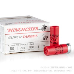 25 Rounds of 12ga Ammo by Winchester - 1 ounce #9 shot