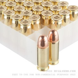 1000 Rounds of .38 Super Ammo by Fiocchi - 129gr FMJ