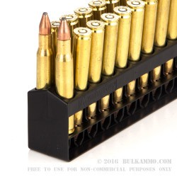 20 Rounds of 30-06 Springfield Ammo by Remington - 125gr PSP