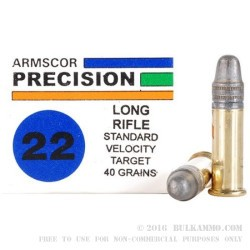 50 Rounds of .22 LR Ammo by Armscor - 40gr LS