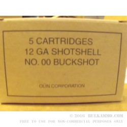 250 Rounds of 12ga Ammo by Winchester -  00 Buck