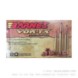20 Rounds of .300 Win Mag Ammo by Barnes VOR-TX - 130gr Polymer Tipped