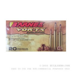 20 Rounds of .308 Win Ammo by Barnes VOR-TX - 130gr TTSX
