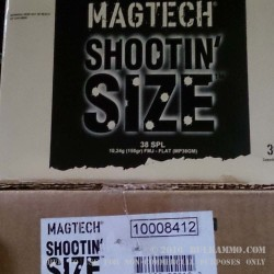 900 Rounds of .38 Spl Ammo by Magtech Shootin' Size - 158gr FMJFN
