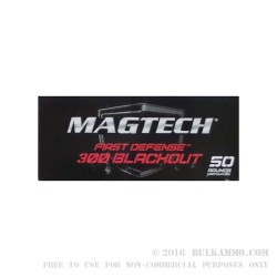 50 Rounds of .300 AAC Blackout Ammo by Magtech - 123gr FMJ