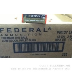 5 Rounds of 12ga Ammo by Federal - 1 ounce Truball Low Recoil HP Rifled Slug