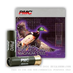 25 Rounds of 12ga Ammo by PMC -  #4 Shot (Steel)