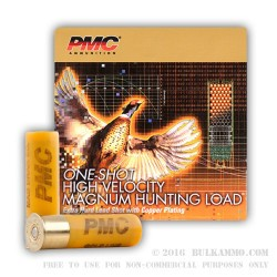 25 Rounds of 20ga Ammo by PMC -  #6 shot