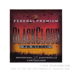 """25 Rounds of 20ga Ammo by Federal BlackCloud - 3"""" 1 ounce #2 Shot"""