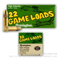 400 Rounds of .22 LR Ammo by Remington - 36gr HP