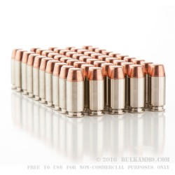 250 Rounds of .40 S&W Nickel Plated Ammo by Remington - 180gr MC