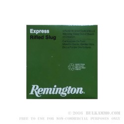 250 Rounds of .410 Bore Ammo by Remington - 1/5 ounce Rifled Slug