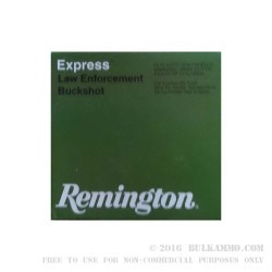 "250 Rounds of 12ga Ammo by Remington - 2 3/4"" 3 3/4 Dram 9P 00 Buckshot"