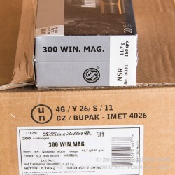 20 Rounds of .300 Win Mag Ammo by Sellier & Bellot - 180gr Nosler Partition
