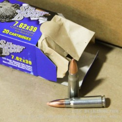 20 Rounds of 7.62x39mm Ammo by Silver Bear - 123gr FMJ