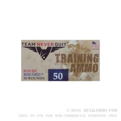 50 Rounds of 10mm Ammo by Team Never Quit - 180gr FMJ