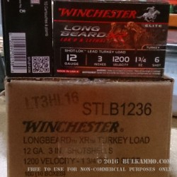 10 Rounds of 12ga Ammo by Winchester Elite Turkey Load  - 1 3/4 ounce #6 shot