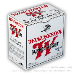 25 Rounds of 12ga Ammo by Winchester - 1 1/8 ounce #7 1/2 shot