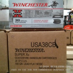 50 Rounds of .38 Spl Ammo by Winchester Super-X - 158gr LFN