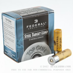 25 Rounds of 20ga Ammo by Federal - 7/8 ounce #7 Shot (Steel)