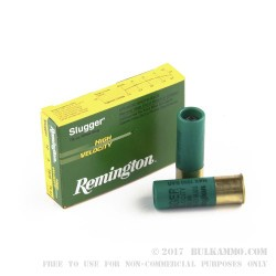 250 Rounds of 12ga Ammo by Remington - 7/8 ounce Rifled Slug