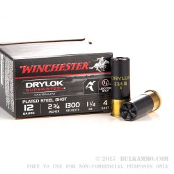 25 Rounds of 12ga Ammo by Winchester - 1 1/4 ounce #4 Shot (Steel)