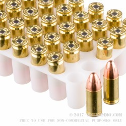 1000 Rounds of 9mm Ammo by Speer Lawman - 115gr TMJ