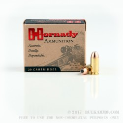 20 Rounds of .40 S&W Ammo by Hornady - 155gr JHP